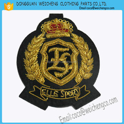 hand embroidery badges/hat badges /Hand Embroidery Coat Collar Badges