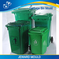 120L outdoor plastic garbage bin mould / garbage can mould with wheels using autocad