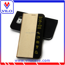 New products PU leather case for samsung S6 egde