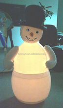 Lovely glow snowman as christmas decoration