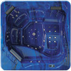 Monalisa Durable Cheap Onground/Underground Hot Tub Outdoor Spa M-3345