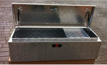 Production Camping Trailer aluminum tool storage box