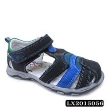 Latest children sandal pig skin insole material boy newest footwear