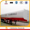 Triple axles 42000L carbon steel material 12 wheel diesel tank semi trailer