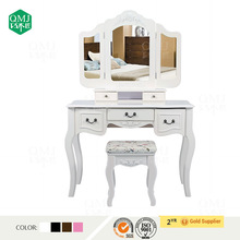 vanity wooden dressing table white with stool