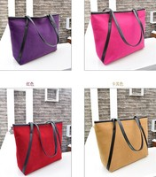 D15816A 2014 new style suede many color shopping bag