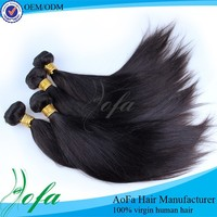 Wholesale large stock cheap virgin peruvian remy AOFA straight hair