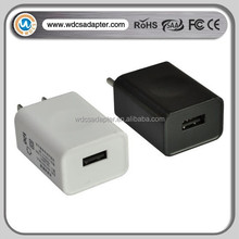 5V 1A USB power adapter wall mount USB charger with EU/UK/JP/US plug