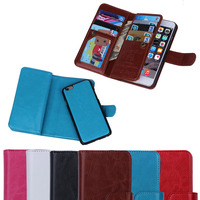 flip cell phone case for apple iphone6 4.7 with hand strap, multi card slots leather cover for iphone 6, hot selling