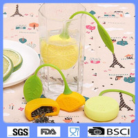 China factory hot sale high quality Lemon Novelty Silicone Tea Strainer