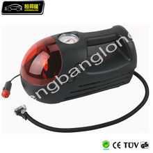 electric air pump for tires with working light 12V DC