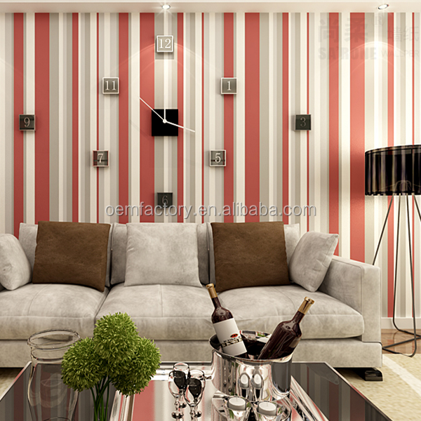 Striped Wallpaper For Living Room
