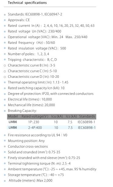 Мини выключатель 10KA D кривая китай поставщиком 3 P 4A MCB типа