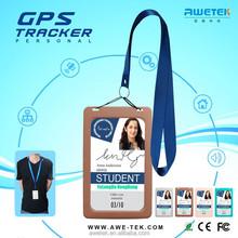 GOOD NEWS sos panic button id card portable personal small gps tracker/gps track