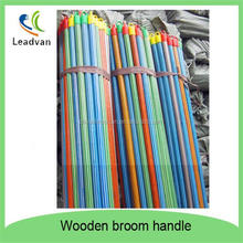 Hardwood broom handle coating striped PVC cover