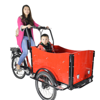 CE front loading Danish bakfiet new cargo tricycle with cabin box for shopping china