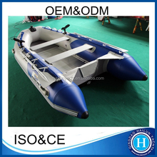 Inflatable 4 persons fishing boats set with paddles and pump