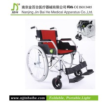 Street foldable self propelled sports wheelchair
