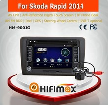 HIFIMAX A9 Chipset Skoda Rapid car radio stereo audio system/Skoda Rapid 2014 car multimedia palyer entertainment