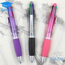 Plastic pen plastic ball pen color change with rubber pen