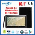 Nueva marca de la tableta de 10.1 pulgadas quad core CPU Allwinner A31s 1.2 GHz 1024 * 600