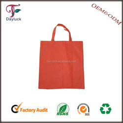 Nylon foldable marketing shopping bags in red color