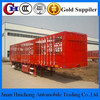 China Cargo Trailer/ 3 Axles Stake Truck Trailer with Goose Neck