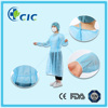 Surgical light blue Non-woven Disposable Isolation Gown For Hospital