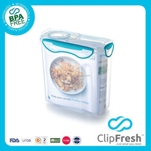 Clip Fresh BPA Free Plastic Airtight Food Container with Locks 4.2L