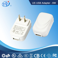 USB white ac dc power adapter 12V 0.5A/5V 1.2A output for LED, Electronic cigarette,Tablet, Water purifier, Router,CCTV camera