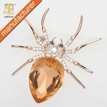 Brooch Manufacturers wholesale Fashion spider jewelry pin cheap crystal shawl rhinestone bulk brooch for wedding invitations
