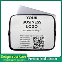 Custom print neoprene laptop sleeve bag case, neoprene laptop sleeve,flower print neoprene laptop