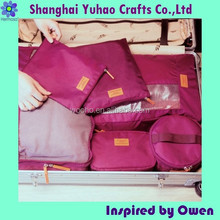 Custom nylon zipper bag for travel clothes packaging