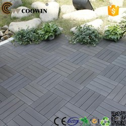 Wooden interlocking flooring garden tiles