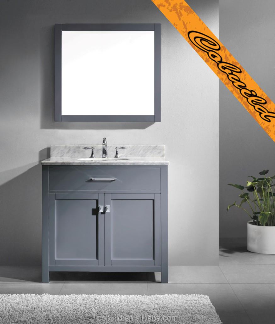 36 moderne gris vier salle de bain vanit bel014a - Vanite salle de bain contemporaine ...