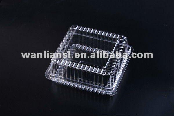 De pl stico transparente galletas cajas for Cajas de plastico transparente