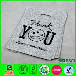 2015 new product Nice die cut handle plastic bags