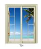 2015 Aluminum profile mordern large glass window and door