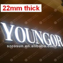 22mm thick acrylic PCB letter