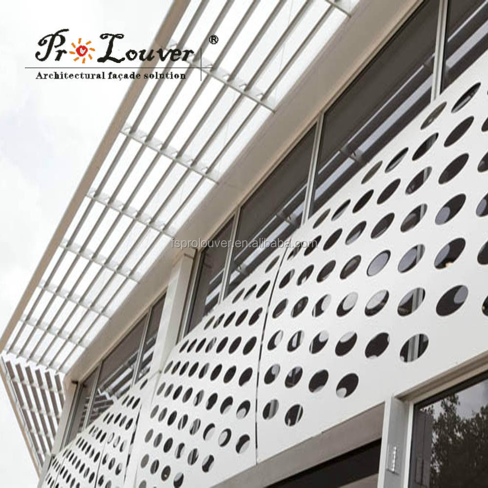 Architectural Perforated Metal Panels : Architectural perforated metal screen wall panel