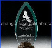 OEM customized acrylic trophy,plastic trophy with base