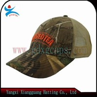 New Style 6 Panels Camouflage Trucker Cap with 3D Embroidery