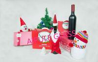 Chrismas designed gift 12oz Transparent wine glass bottle with cap wholesale
