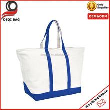 Zipper Top and in Royal Blue Beach Tote Bag