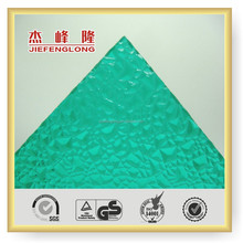 Thick solid embossed polycarbonate panel with long time experience