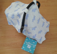 Hot Sales 100% Muslin Cotton Fashion Pattern Baby Breathable Seat Cover