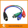 9 Pin Mini Din Cables to RCA Cable RGB Japan AV Gay Sex Audio Vedio Ouput Cable