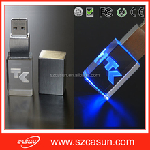 Wholesale new product 3D LOGO crystal usb stick , cheap usb stick for sale