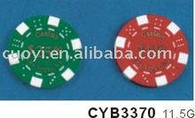 11.5g printing dice poker chips(gold printing or other colour)