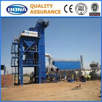 Algeria Bitumen Precast Mini Drum Stationary Asphalt Mixing Machinery